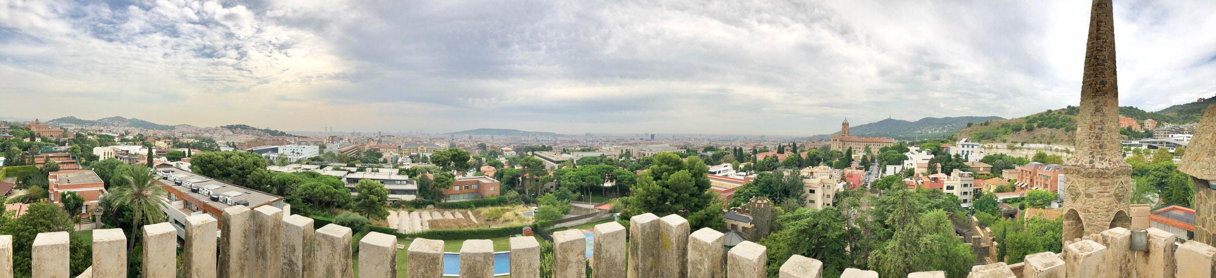 Aussicht vom Bellesguard, Barcelona