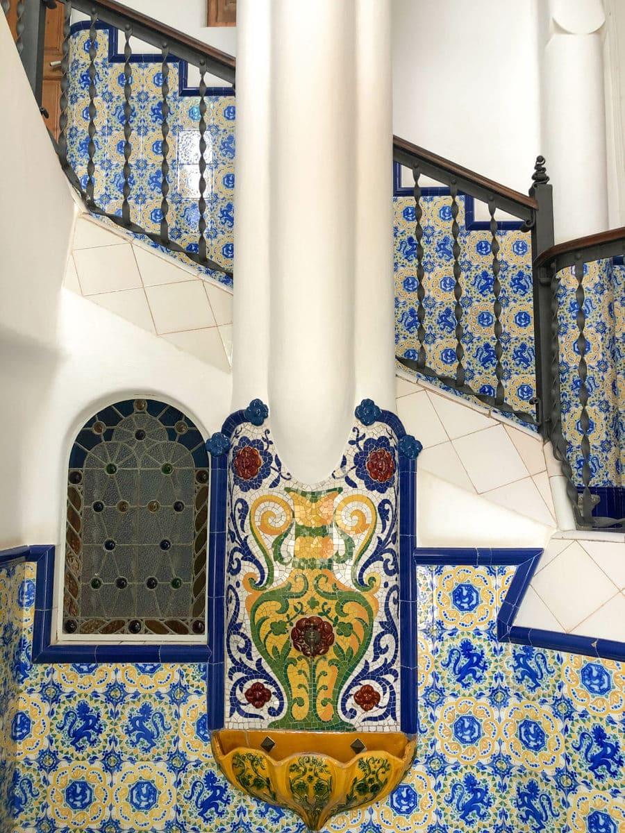 Eingangsbereich Torre Bellesguard, Barcelona