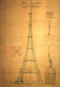 Entwurf von Koechlin und Nouguier (1884), das Bild ist gemeinfrei