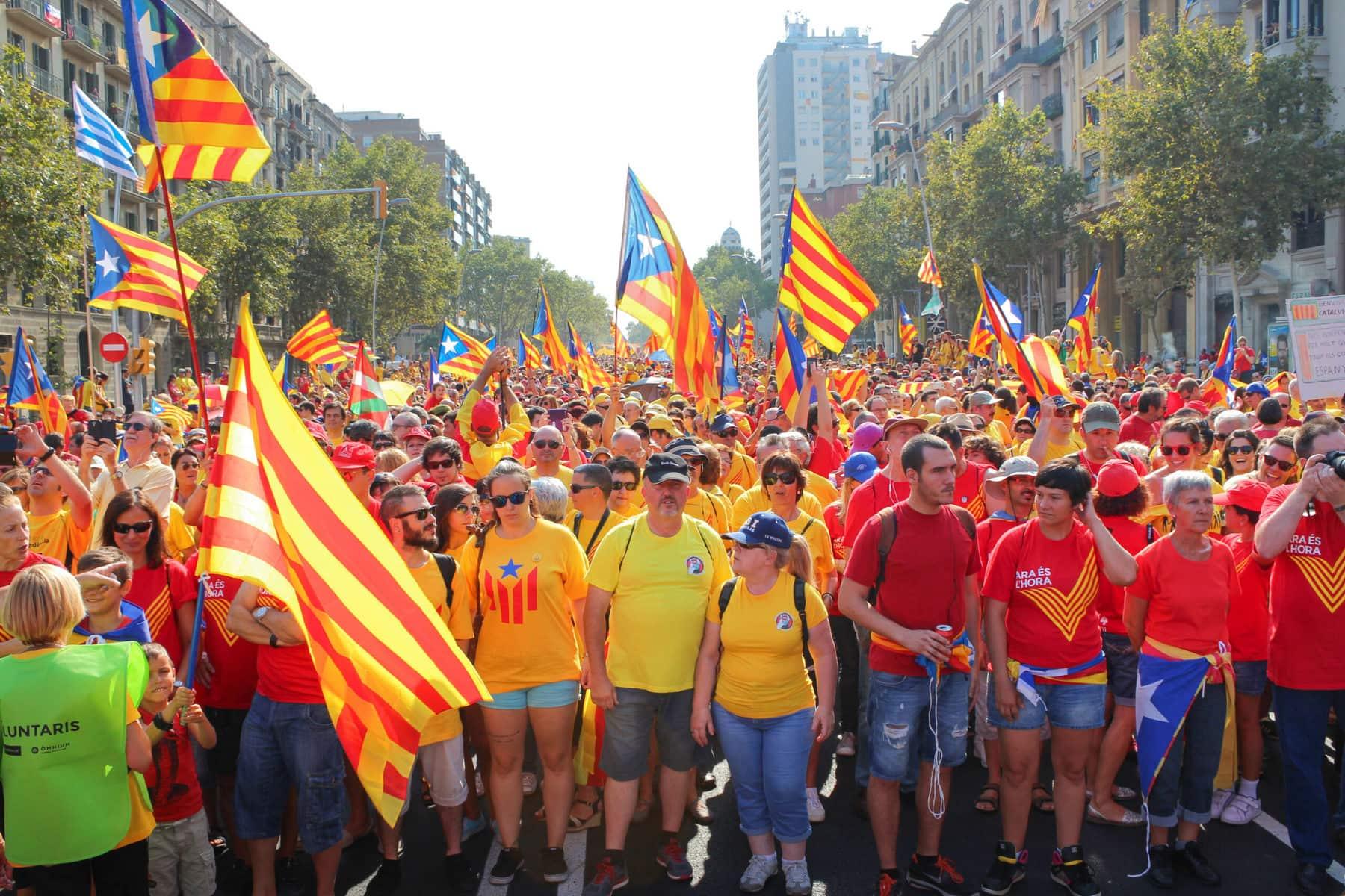 Diada Nacional de Catalunya, Nationalfeiertag Katalonien, Barcelona