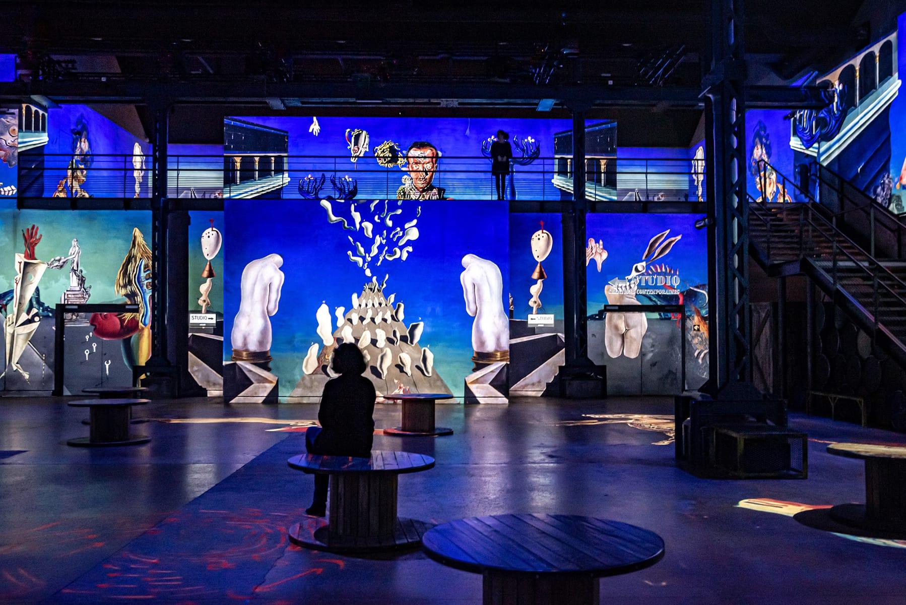 Dali-Ausstellung, Atelier Lumiere, Paris,  © Fundació Gala-Salvador Dalí, ADAGP 2021 Culturespaces / E. Spiller