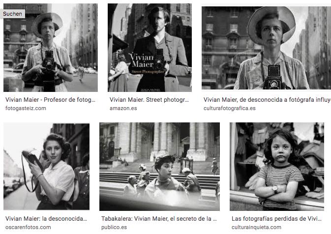 Ausstellung Vivian Maier, Musée du Luxembourg, Paris (Bildschirmfoto Google-Bildersuche)