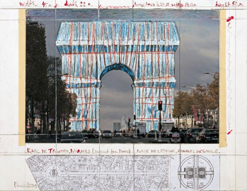Christo, Verhüllung des Arc de Triomphe, Paris, c) Photo: André Grossmann, 2019 Estate of Christo V. Javacheff