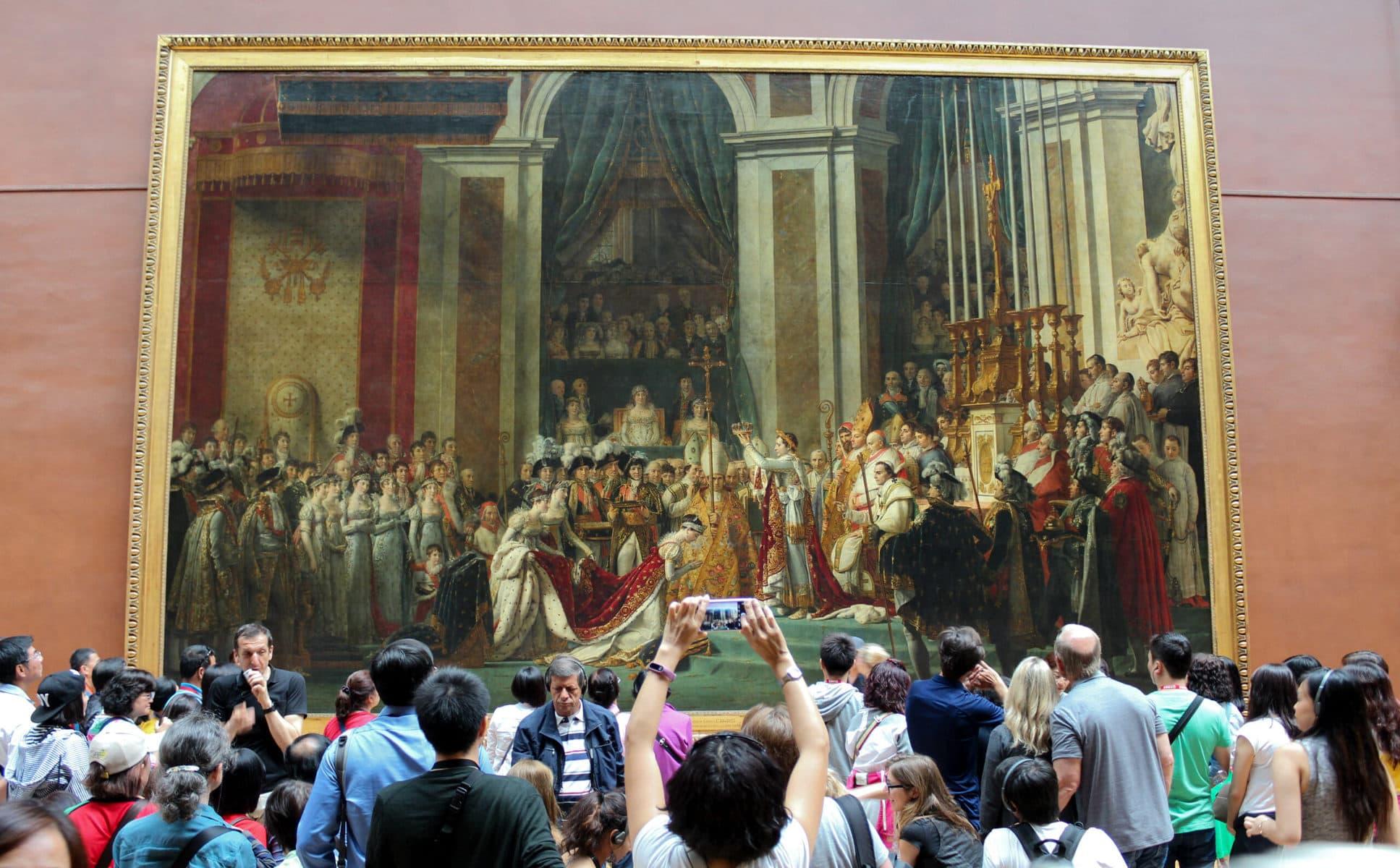 """Jacques-Louis David, """"Die Krönung in Notre Dame (1804)"""", 1806–1807, Öl auf Leinwand, 621 cm × 979 cm, Louvre, Paris"""