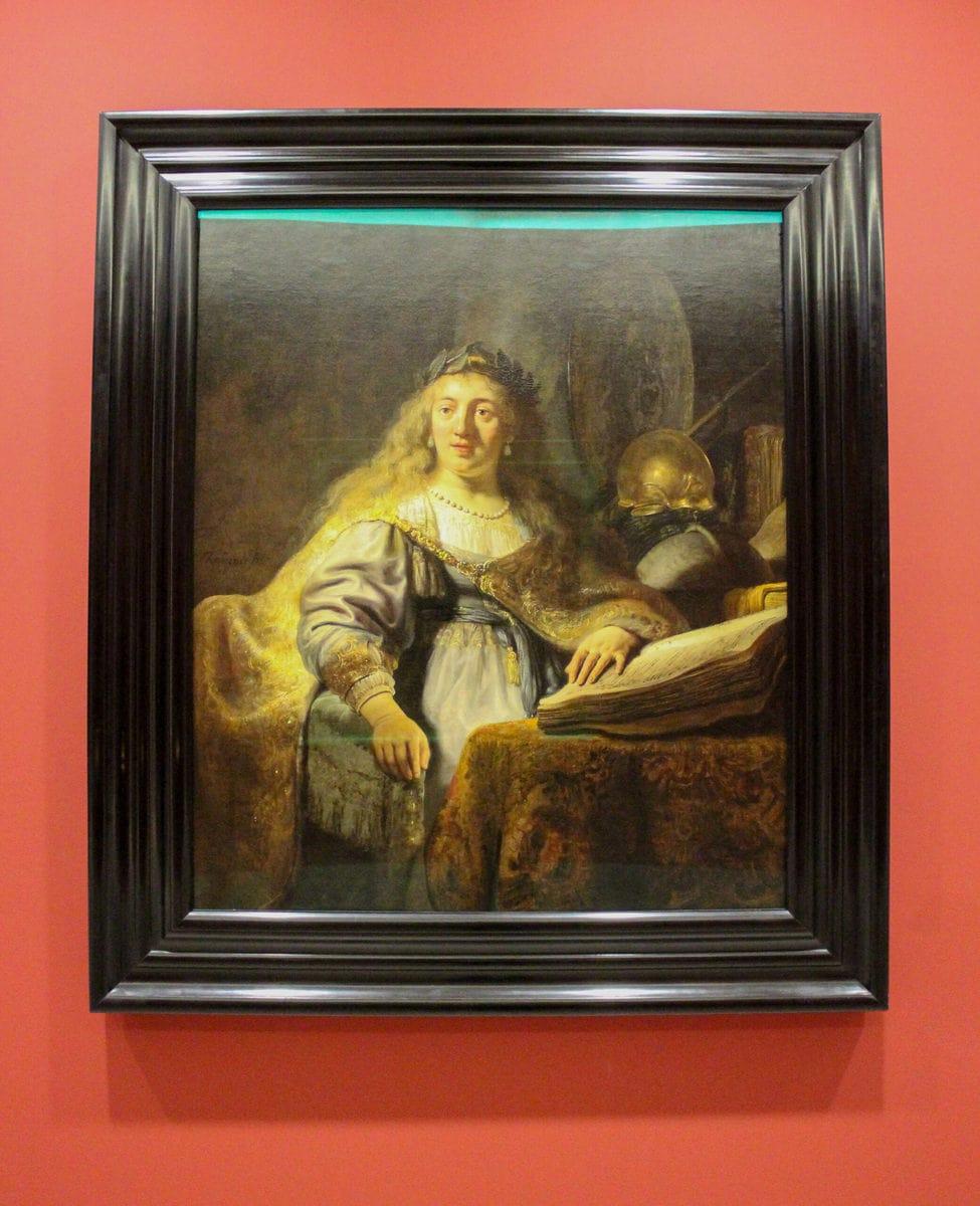 Rembrandt: Minerva in ihrem Studierzimmer, Louvre, Paris