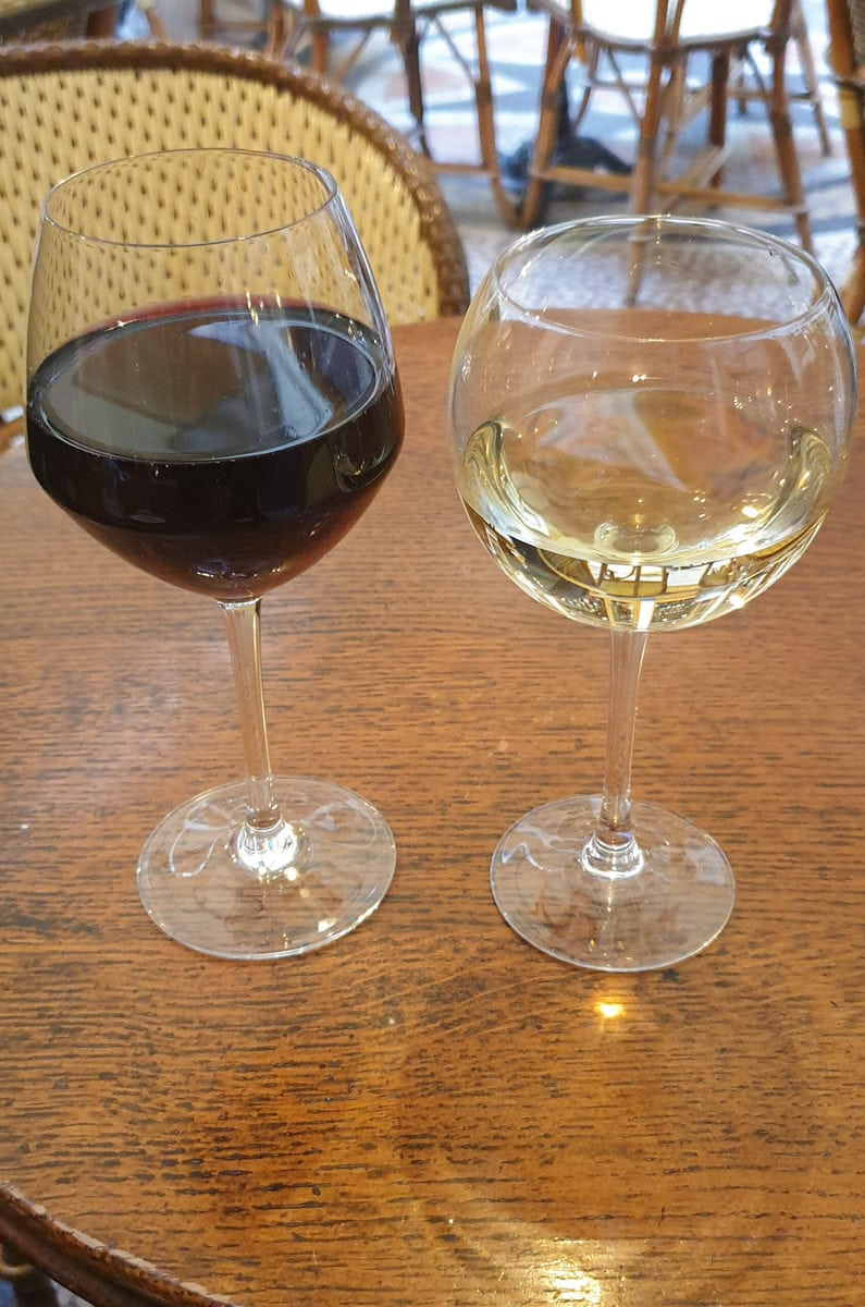 Rotwein, Weißwein, Paris