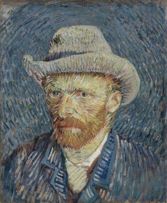Vincent van Gogh: Selbstporträt mit grauem Filzhut, Paris, Sept. - Okt. 1887, 44.5 cm x 37.2 cm, © Van Gogh Museum, Amsterdam (Vincent van Gogh Foundation)