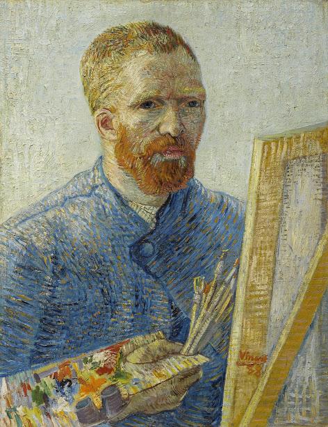 Vincent van Gogh: Selbstporträt als Maler, Paris, Dez. 1887 - Feb. 1888, Öl auf Leinwand, 65.1 cm x 50 cm, © Van Gogh Museum, Amsterdam (Vincent van Gogh Foundation)