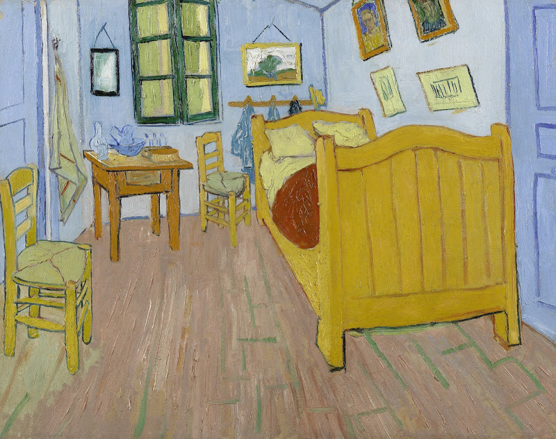 Vincent van Gogh: Schlafzimmer in Arles, Oktober 1888, Öl auf Leinwand, 72.4 cm x 91.3 cm, © Van Gogh Museum, Amsterdam (Vincent van Gogh Foundation)