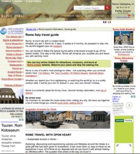 Englischsprachige Webseite Rom