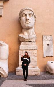 Ich in den Kapitolinischen Museen, Rom