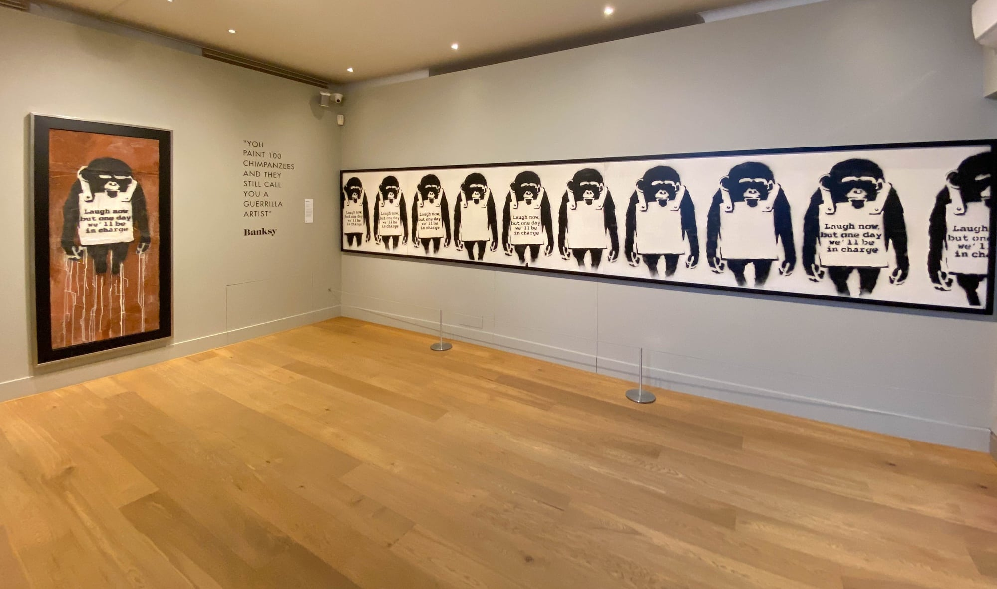 Banksy: Laugh now, but one day we'll be in charge, Moco Museum, Amsterdam