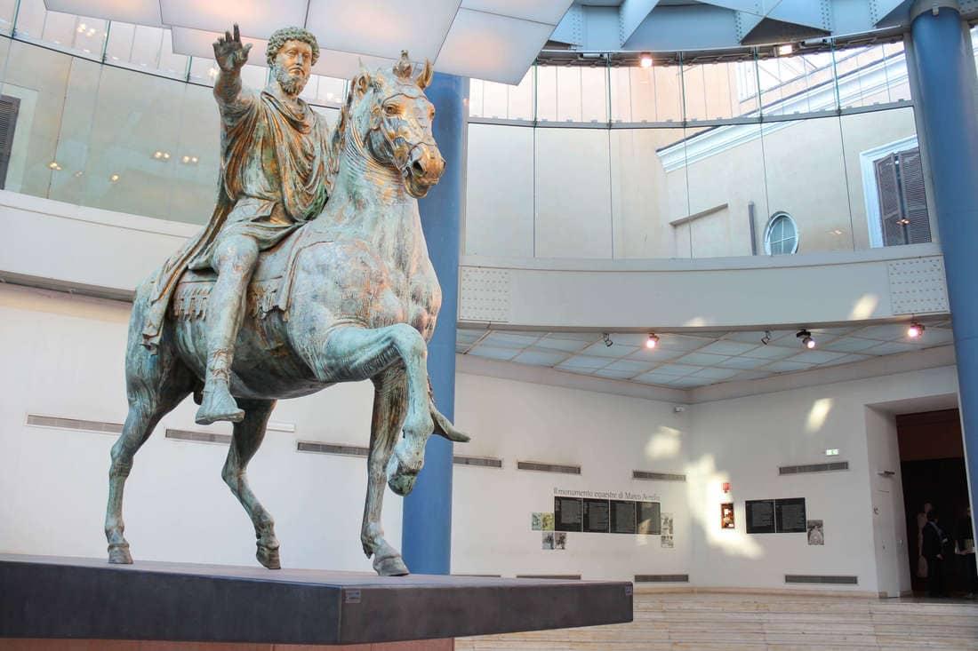 Statue von Marc Aurel im Kapitol, Rom