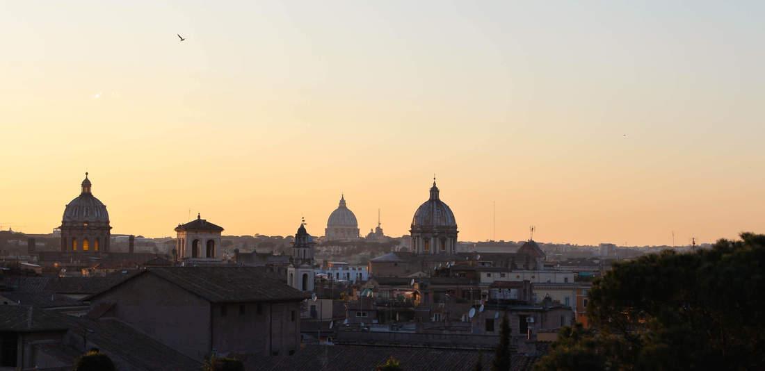 Sonnenuntergang in Rom