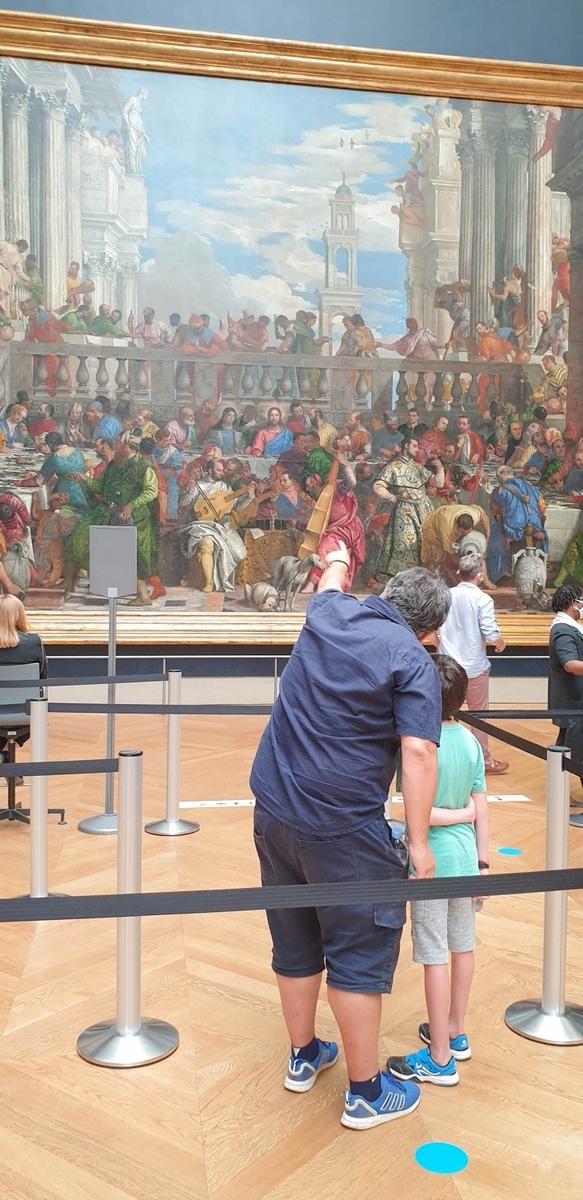 """Louvre, Die Hochzeit zu Kana"""" von Paolo Caliari"""