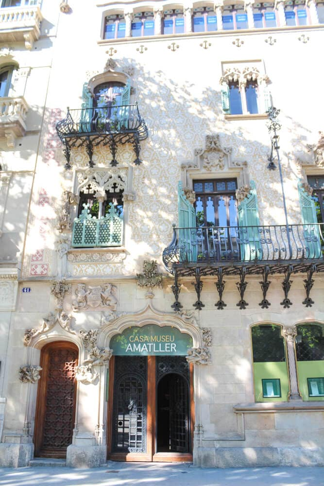 Casa Amatller, Barcelona während Corona 2020