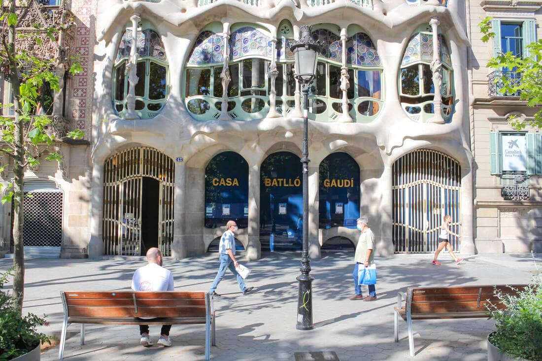 Casa Battlo, Barcelona während Corona 2020