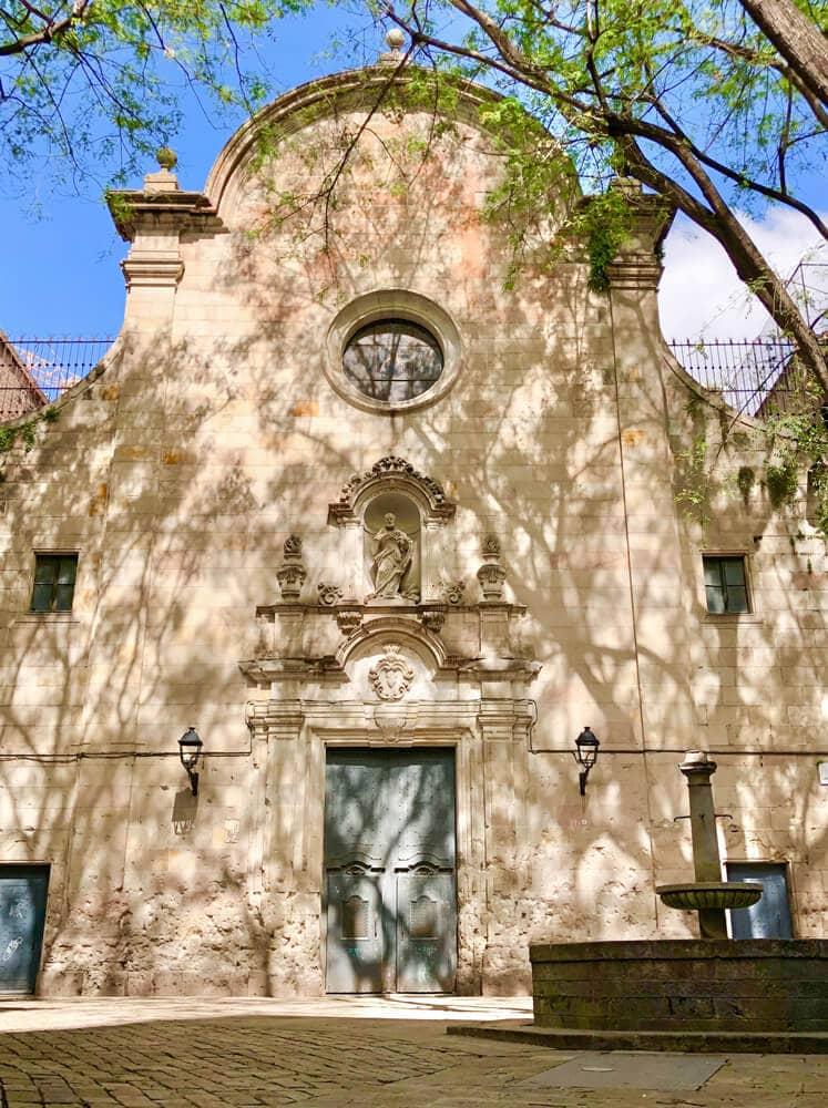Placa Felipe Neri, Barcelona während Corona 2020