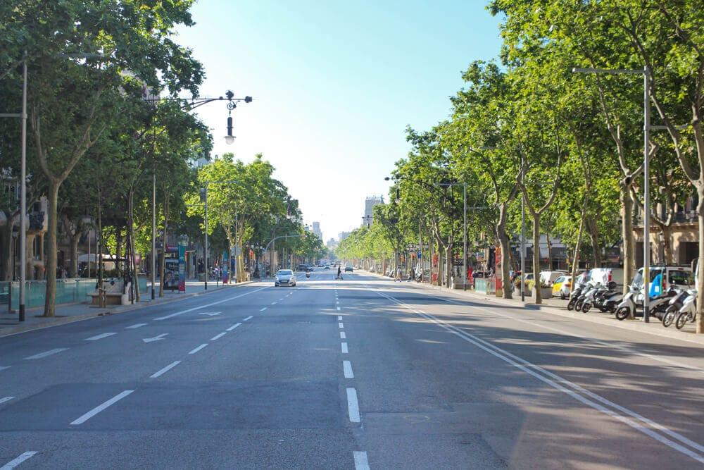Passeig de Gracia, Barcelona während Corona 2020