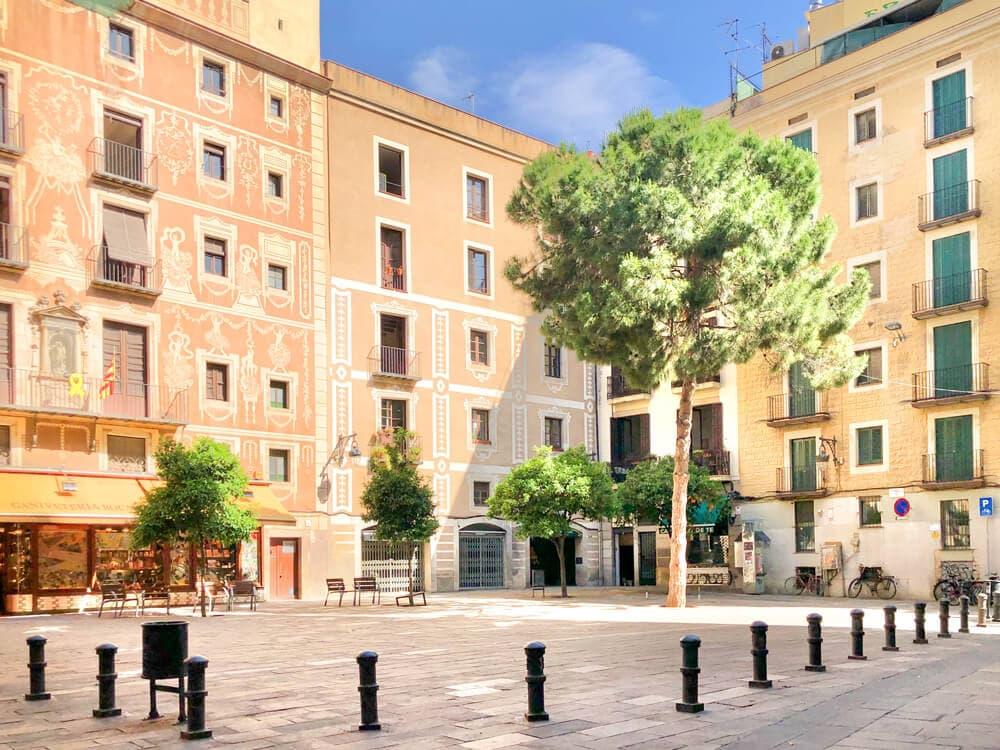 Placa del Pi, Barcelona während Corona 2020