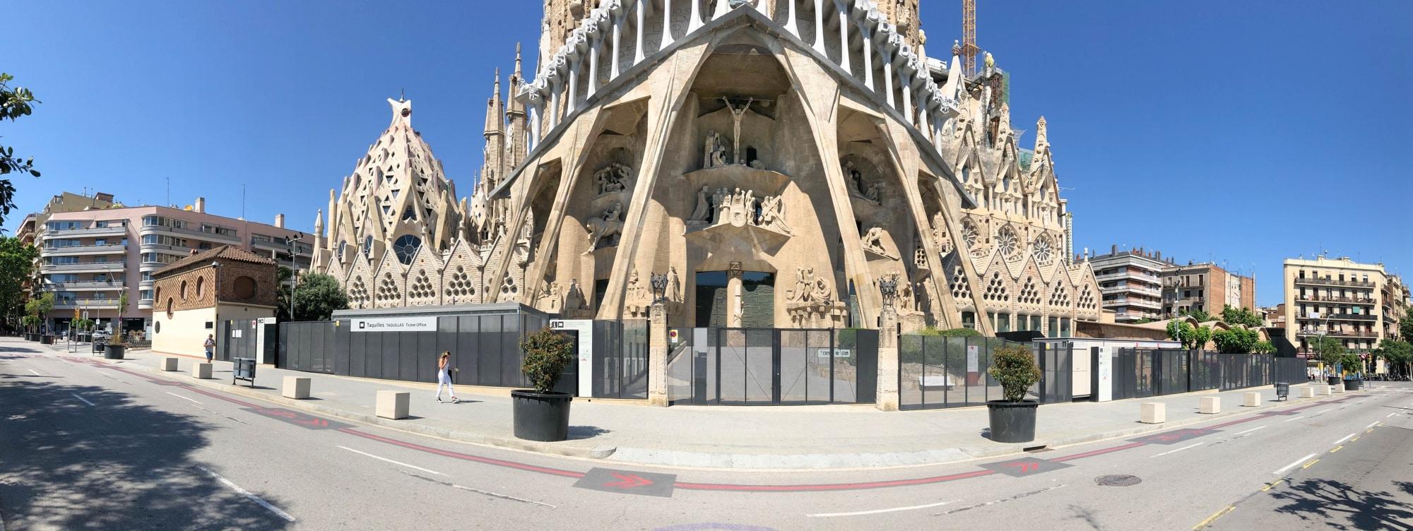 sagrada Familia während corona 2020