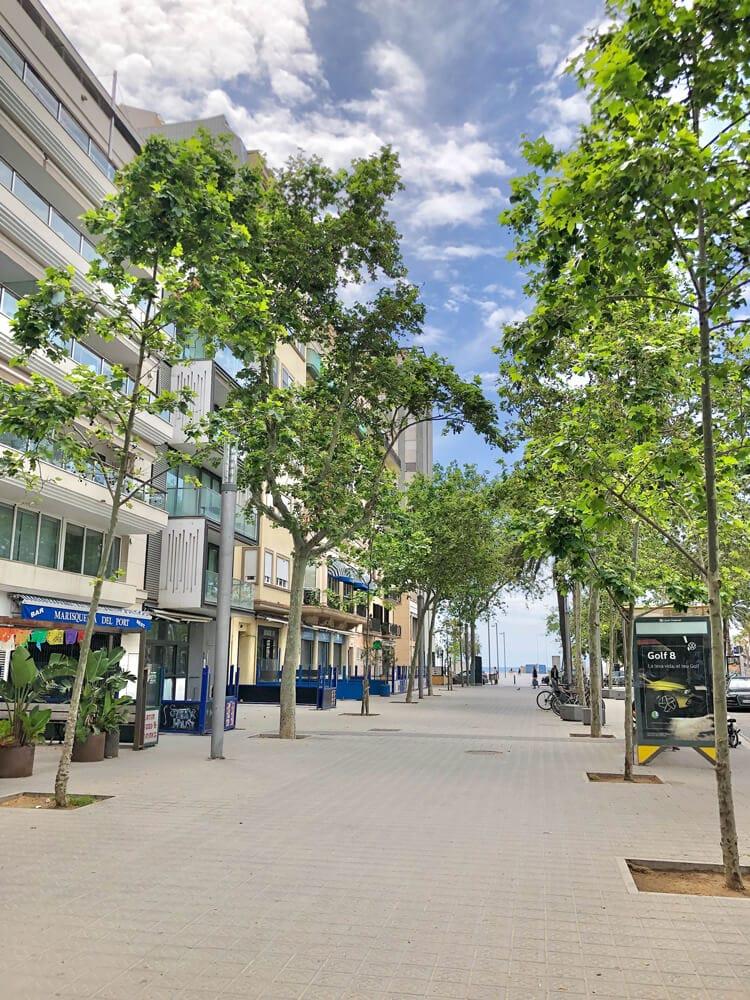 Strand Barcelona während Corona 2020